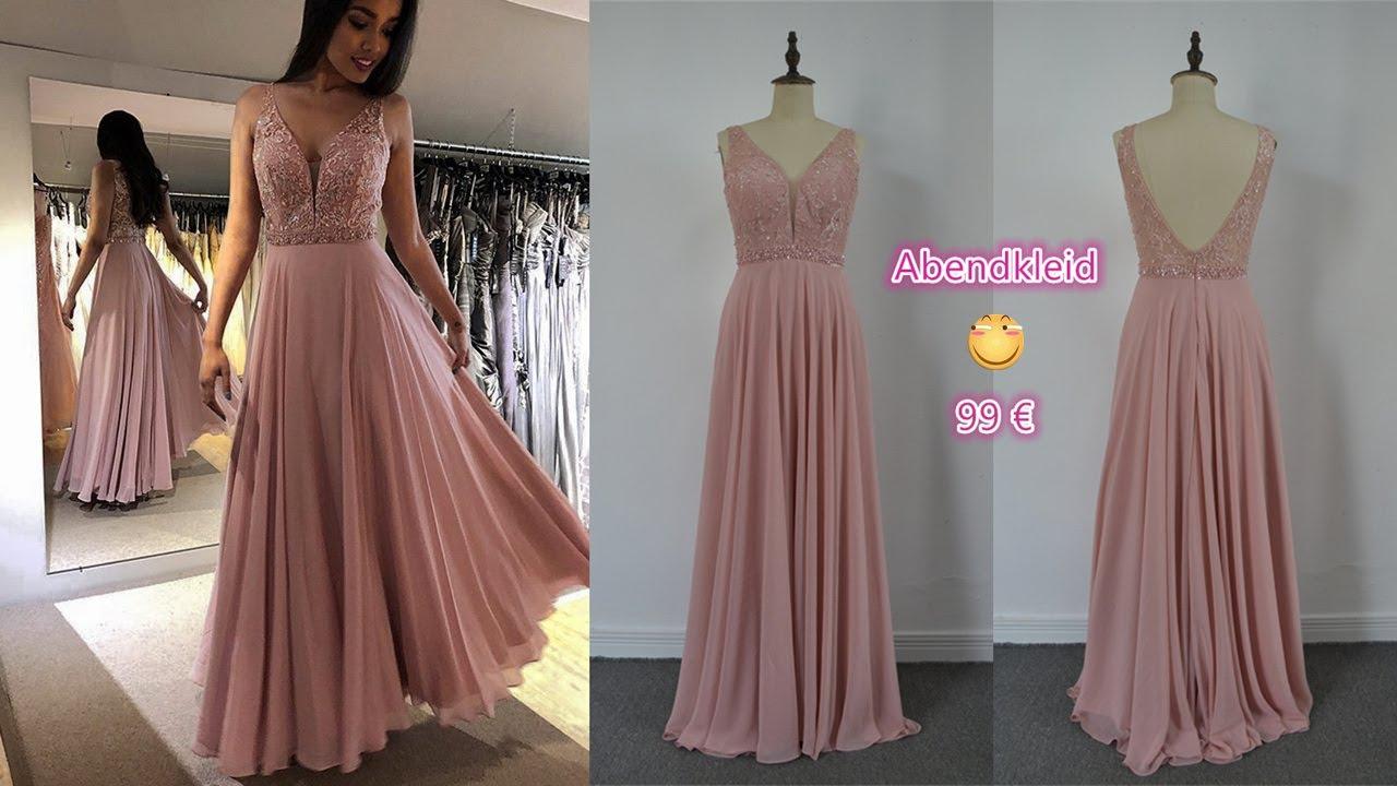 Abendkleid Lang Altrosa Chiffon online kaufen