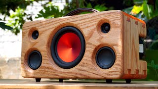 Epoxy Dovetail Joint Bluetooth Speaker DIY
