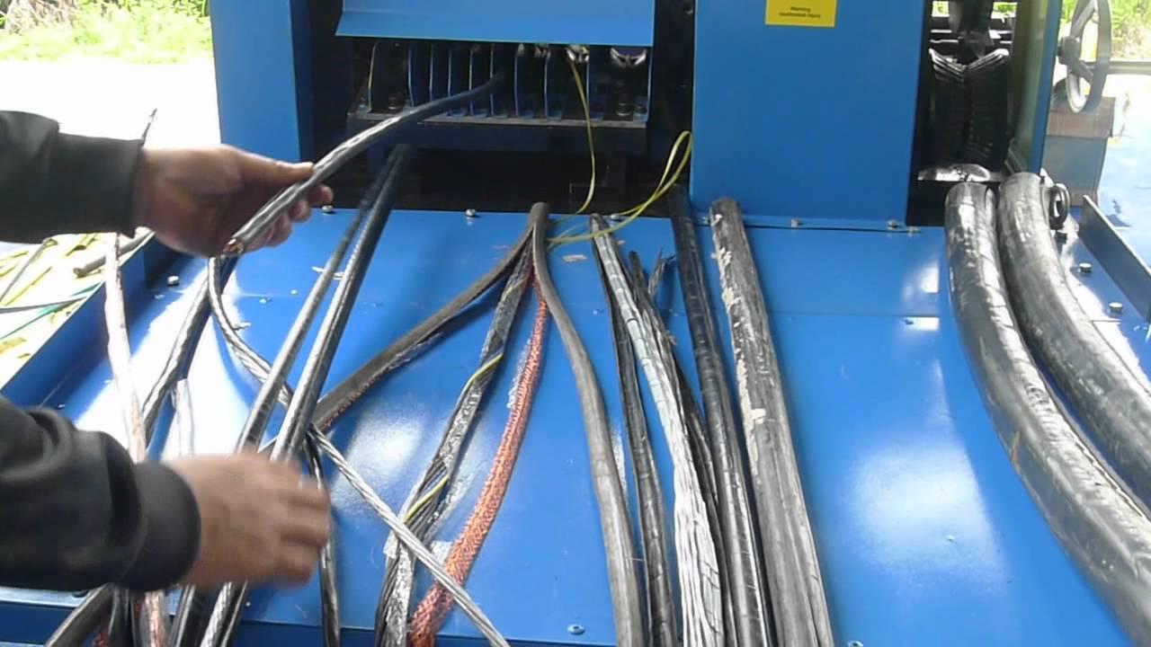 BWS 80 Heavy Duty Wire Stripping Machine - YouTube