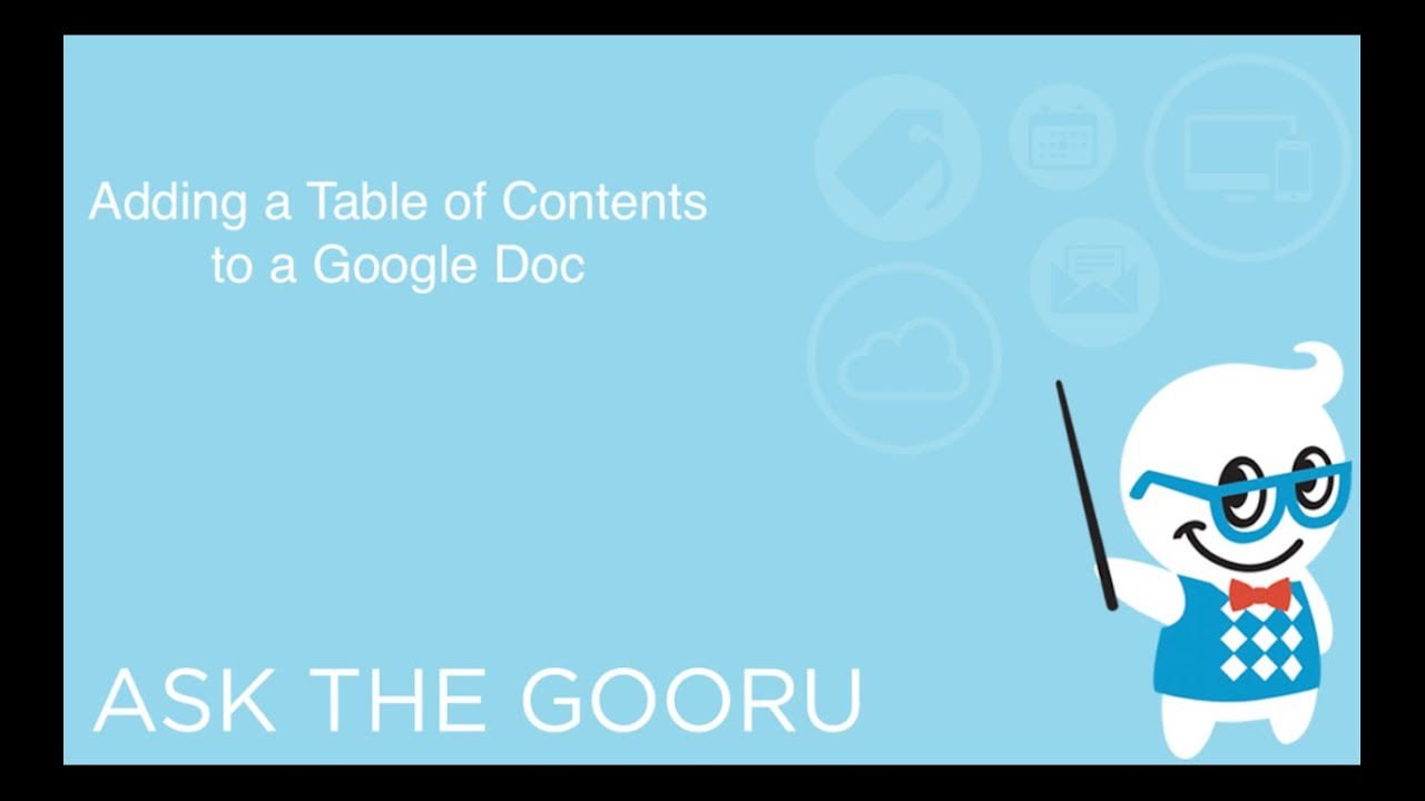 how to open the contents google doc