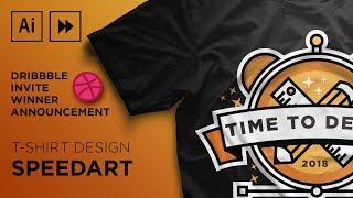 T shirt Design  | Adobe Illustrator Speedart