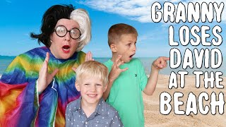 Greedy Granny Lost at the Beach In Real Life! - Skit