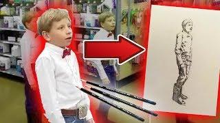 Walmart Yodeling Kid Drawing Timelapse + Reaction