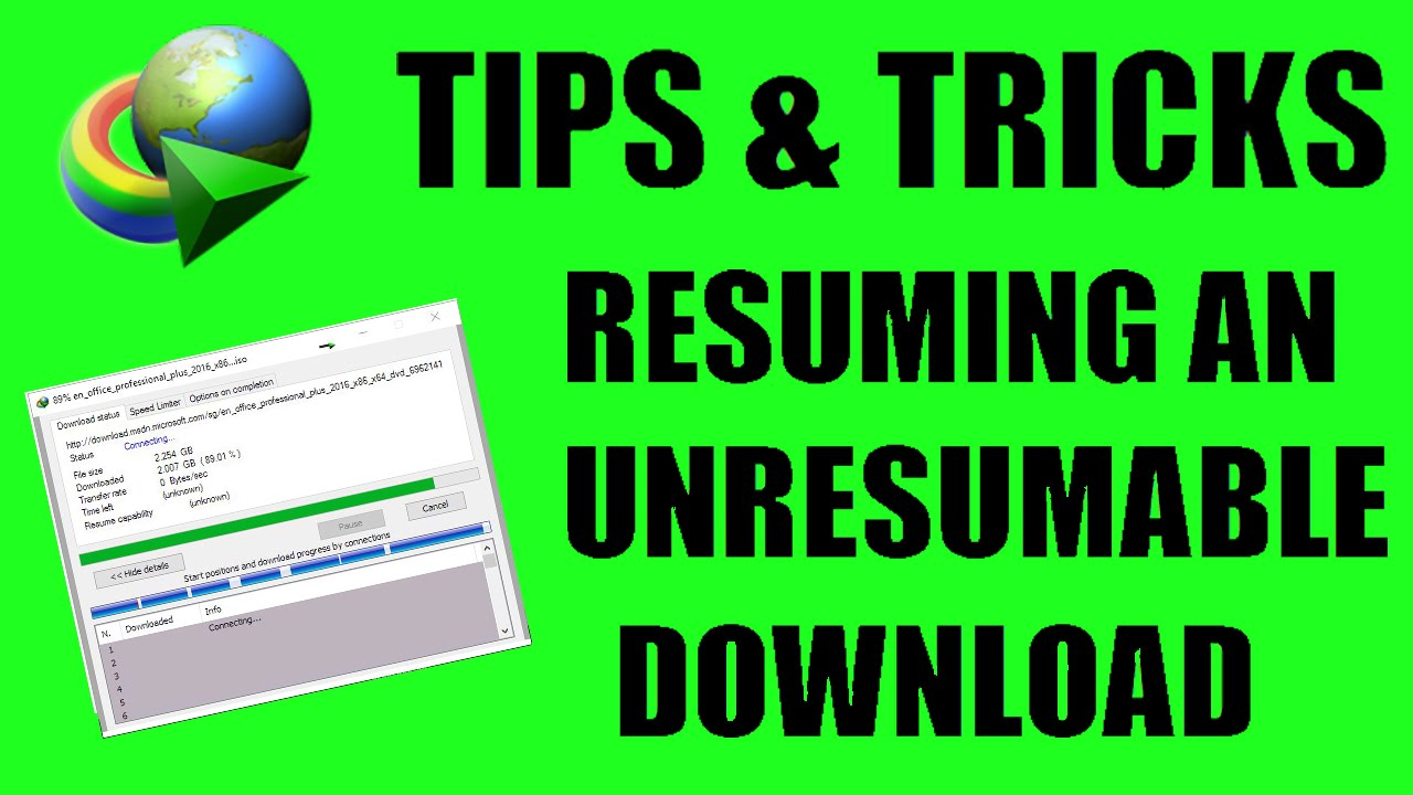 how to resume interrupted non resumable downloads 2016 india