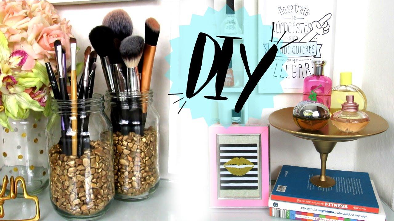 Organizador de perfumes y brochas ideas f ciles y - Ideas faciles para decorar ...