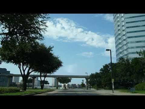 Driving around Las Colinas area in Dallas County, Texas