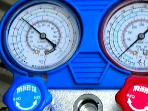 A/C system low on R134a, compressor cycling on and off