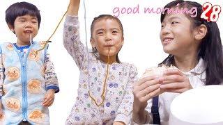 かんなとあきらの朝の様子でございます(^^) 今日も一日楽しんでいきまし...