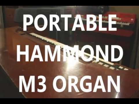 hammond m3 portable organ with b3 percussion 1 4 line output leslie 147 output youtube. Black Bedroom Furniture Sets. Home Design Ideas