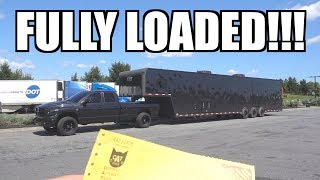 CAN THE 6 SPEED CUMMINS HANDLE THE FULLY LOADED RACE TRAILER!?!?!