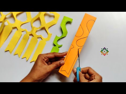 Paper Cutting Decoration Ideas For Ganesh chathurthi, festivals, & Parties
