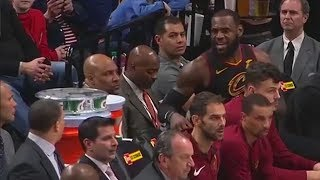 LeBron James Exchanges Words with Tyronn Lue in a Heated Argument! Cavaliers vs Trail Blazers