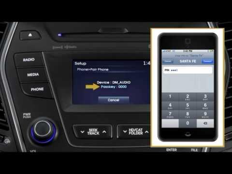 Santa Fe AN   Bluetooth Phone Pairing