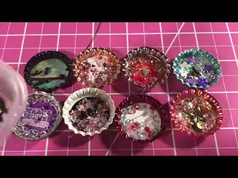 DIY Bottle Cap Shaker Tutorial - NEW added charms / magnets / paper clips