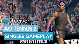 Stevivor shows off some ao tennis 2 gameplay, recorded of xbox one x.for more: https://stevivor.com/tag/ao-tennis-2/