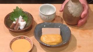 《柚子味噌で 胡麻豆腐と下足の茹で物》・・・・大和の 和の料理《味噌》
