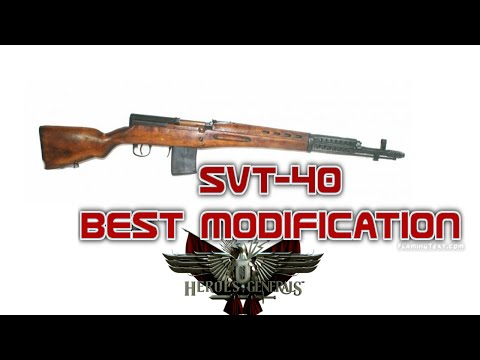 Heroes and Generals|SVT-40 BEST MODIFICATION