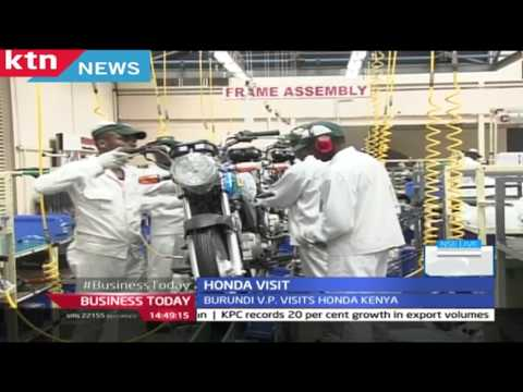 Burundi Vice President visits  Honda Kenya seeking business partnership