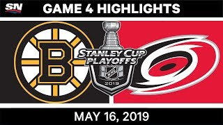 NHL Highlights | Bruins vs. Hurricanes, Game 4 – May 16, 2019