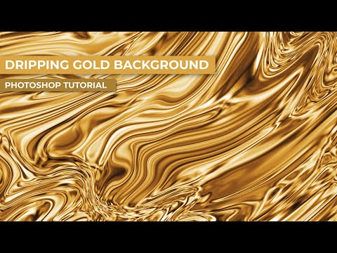 Background Design: Liquid Gold Photoshop Tutorial thumbnail