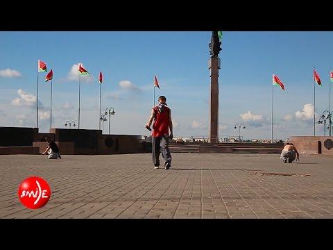Неизвестные в масках раскрасили Советскую площадь в Могилеве