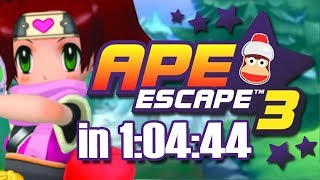 Ape Escape 3 (サルゲッチュ3) Any% Speedrun | 1:04:44
