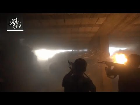 Footage from Ein Tarma front as FSA forces take on the regime in heavy clashes