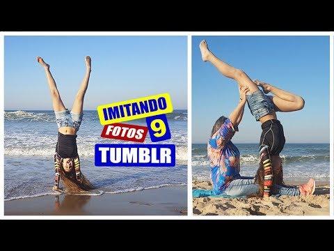 IMITANDO FOTOS TUMBLR 9 ! NA PRAIA - Muita diversão! 😂 MILENINHA