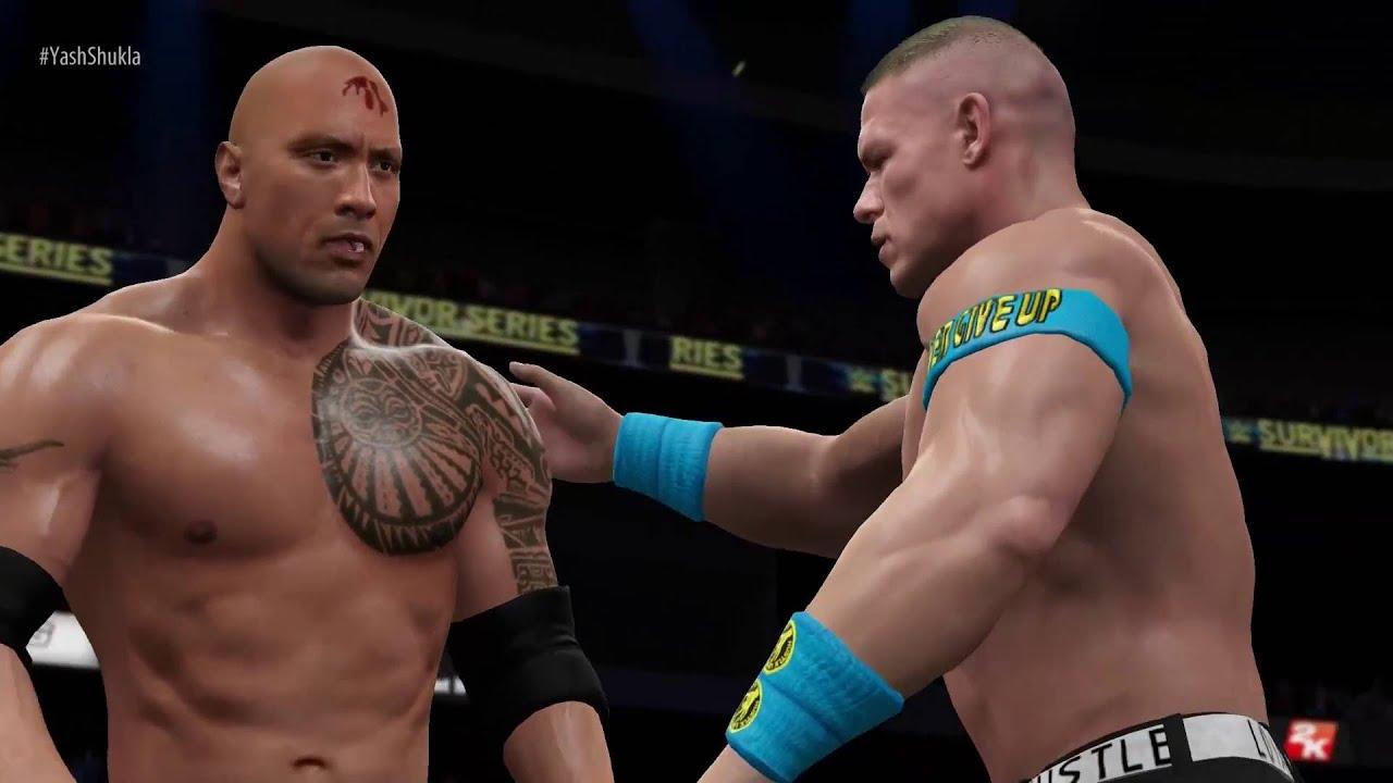 Wwe 2k16 John Cena The Rock Vs The Miz R Truth Elimination Tag