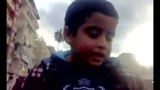 5 Year Old Child Heads Million Strong Demo in Alexandria Egypt