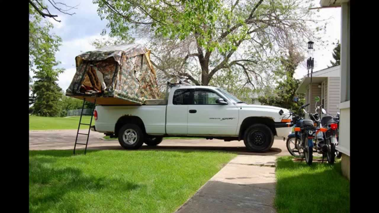Dodge Dakota Truck Tent Diy Extended With Drum Camping