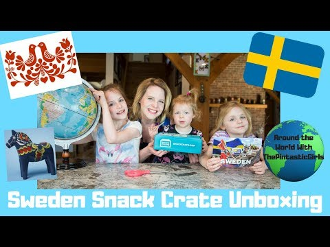Sweden Snack Crate Unboxing | American Kids Trying Swedish Snacks