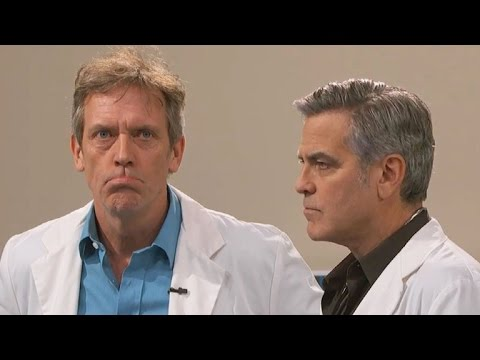George Clooney and Hugh Laurie Revive 'E.R.' and 'House' Doctors on 'Jimmy Kimmel Live'