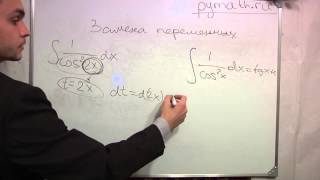 Замена переменных в неопределённом интеграле. Часть 6