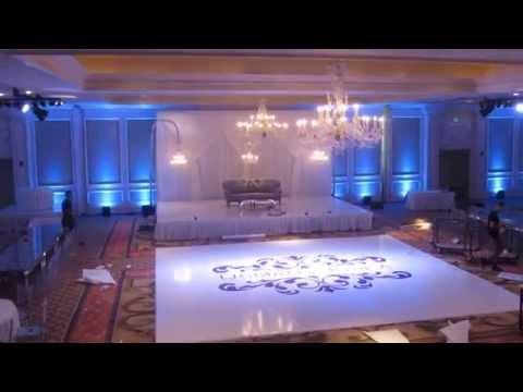 Custom White Dance Floor Setup @Langham Pasadena Wedding