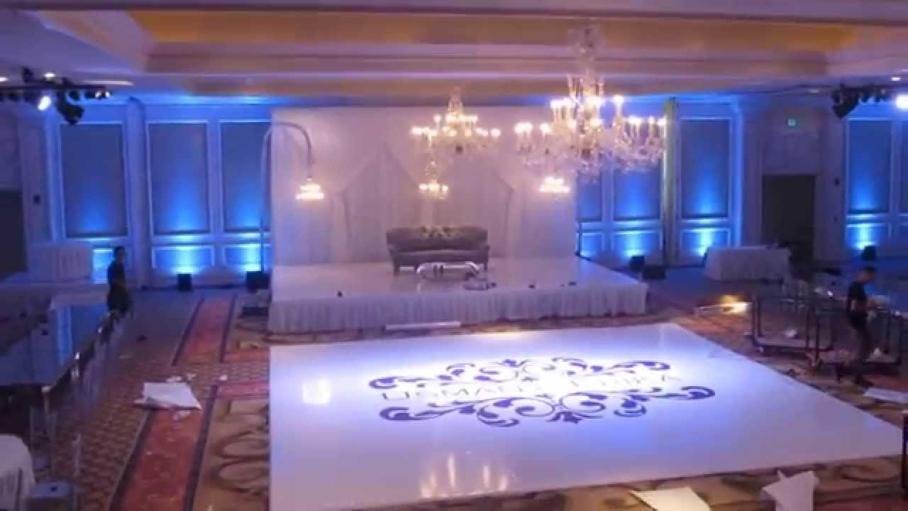 Custom White Dance Floor Setup Langham Pasadena Wedding