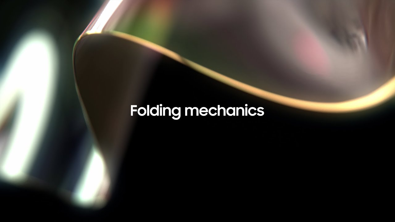 Samsung Display Foldable OLED: Folding Mechanics