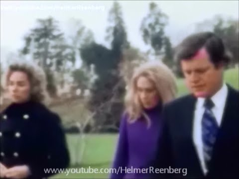 November 20, 1971  Ethel, Joan and Edward Kennedy at the graves of Robert and John F. Kennedy