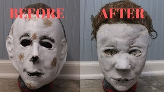 Rehauling the WORST Michael Myers Mask Ever Made - DIY Halloween Tutorial