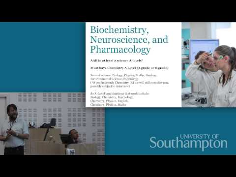 Centre for Biological Sciences talk, Open Day 2015 - University of Southampton