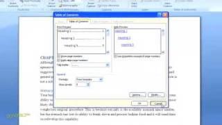 كيفية إنشاء جدول محتويات في Word 2007 For Dummies