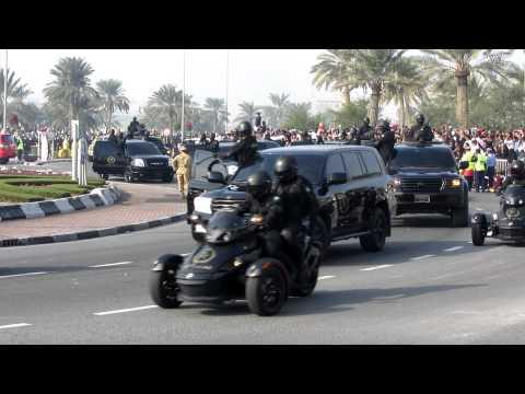 Vehicle parade on National Day 2011 Doha, Qatar