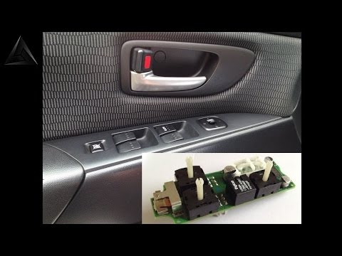 Mazda 3, how to repair keypad or switch windows