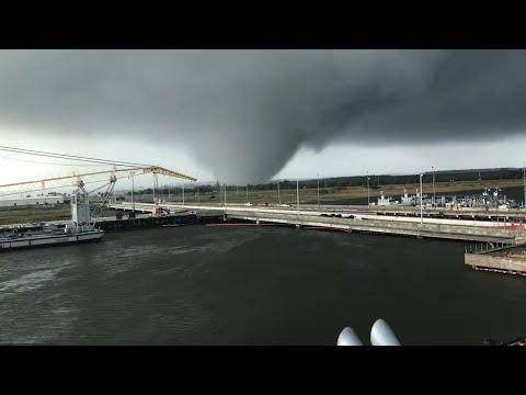 Tornado strikes Georgia naval base, USA (Dec 3, 2018)