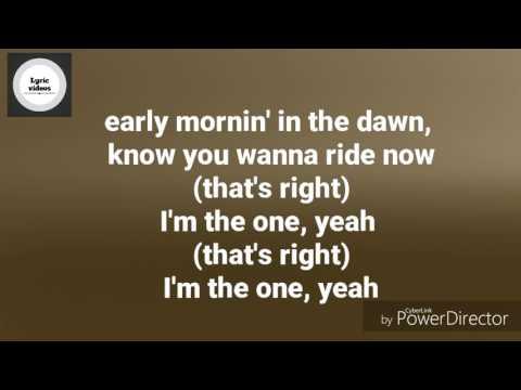 Lyric video I'm the one DJ khaled ft. Justin Bieber, Chance the rapper, Lil Wayne