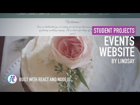 Nucamp Student Portfolio   An Events Company Website