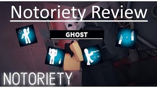 [Roblox] Notoriety - Ghost skill(Review)