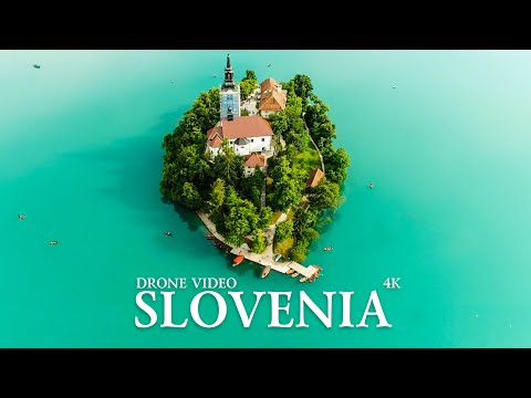 Slovenia Bled lake and Maribor city drone/Словения озеро Блед и город Марибор съемка дроном