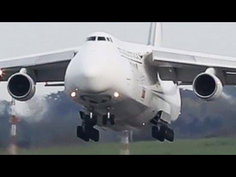 Rare Beast !! Maximus Air Cargo Antonov AN-124 Departure at Liege (HD)