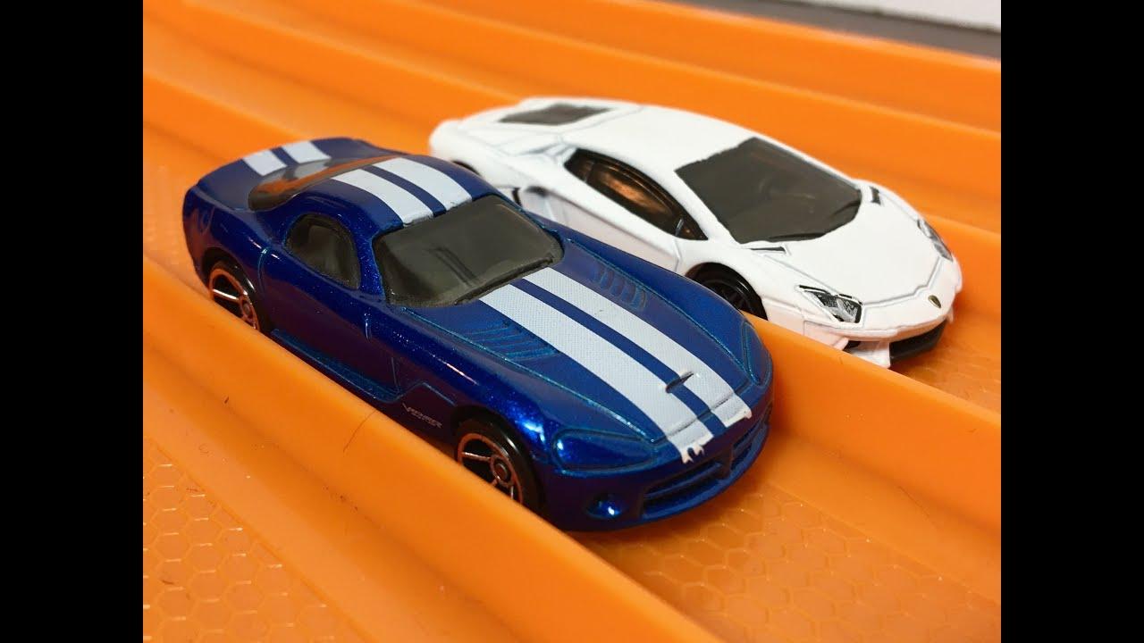 RACE: SRT Viper vs Lamborghini Aventador - Hot Wheels - YouTube